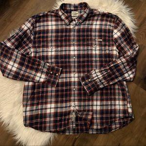 Lucky Brand Long Sleeve Pearl Snap Buttons Shirt